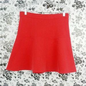 Madewell red skater skirt